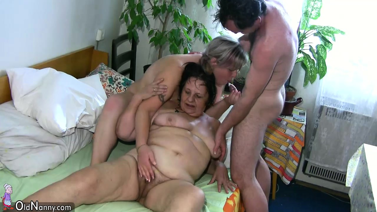 Oldnanny mature with big boobs masturbate with chubby granny tmb