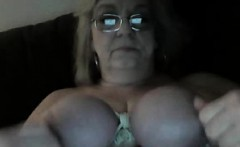 Granny Abusing Her Tits And Nipples