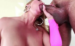 Bitch has her face glazed with cum