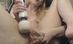 Petite Blondes Hula Hooping And Masturbation