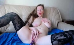 Delightful girl with big tits feeds her lust for pleasure o