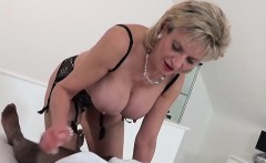 Unfaithful english milf lady sonia presents her large puppie