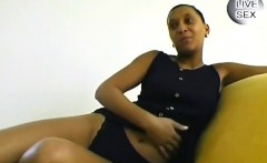 Perv teases a stunning babe from Africa to let him tape her