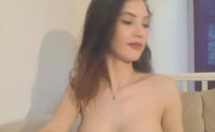 Rarely Busty Adorable Babe Masturbates On Webcam