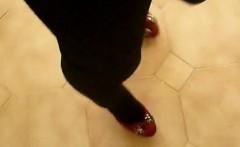 Crossdresser - leggins and miniskirt -