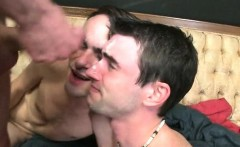 Hazed college boys sharing dick and cum shots