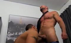 One gay man masturbates another gay man Horny Office Butt Ba