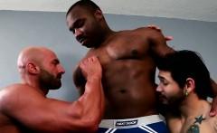 Huge black hunk assfucking in trio before cum
