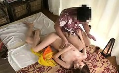 Masseuse gets her all oiled up for a full body massage and