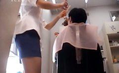 Asian nurse shows sexy undies upskirt
