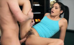 Teen gets her tight and hairy pussy fucked on a pool table