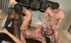 Muscle boy threesome with cumshot