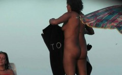Hot babe sunbathing on the beach