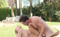 Drilling Pretty Blonde Ex Girlfriend Sydney Cole Outdoors