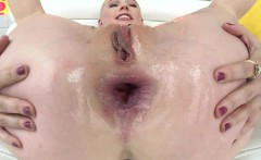 Gaping pornstar assfucked and facialized