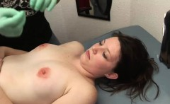 Horny brunette gets her nipples pierced