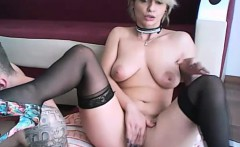 Amateur big tits camgirl shows her pussy and ass on webcam