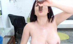 Sexy Big Boobs Milf Rubbing Her Pussy Until She Squirts Hard