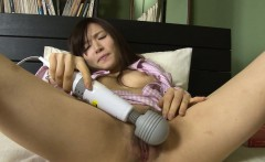 Asian wife toy fucking her cunt