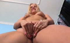 Sweet nympho is gaping slim snatch in closeup and cumming