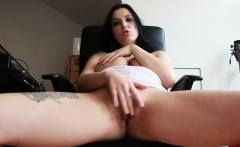 Smoking a cigar and fucking her pussy