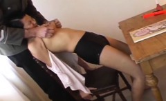 One hotty gets drilled while another gets humiliation