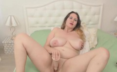 Chubby Brunette With Mega Big Natural Tits