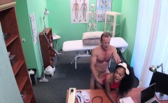 Doctor jizzed ebony cleaning lady