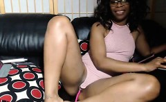 Ebony with big natural boobs in the POV action