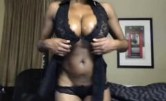 oiled big tits ebony show striptease