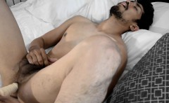 Asian toying his asshole