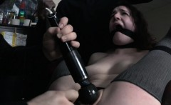 Beautiful sub escapes frogtie in bdsm