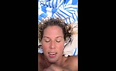 Real homemade amateur facial cumshot