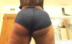 Ebony panties ass striptease tattoo