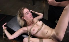 Kinky chick gets used in bondage