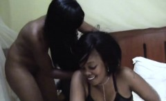 Naughty lesbian African babes are having the time of their