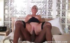 Mature bitch loves black dick in her cunt