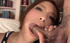 Ena Ouka gets older man to deep fuck her tiny pussy