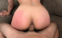 Beautiful latina hottie gives a steamy hand and blowjob
