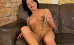 wetandpuffy   glass dildo play for her cherry pussy