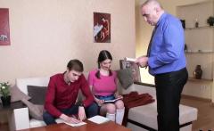 Sensual schoolgirl was tempted and rode by her elder teacher