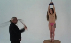 Teen delights with severe joy on her hairless snatch