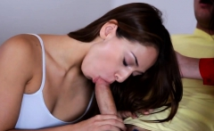 Lucky dude pleasing his hot girlfriend and her MILF mom
