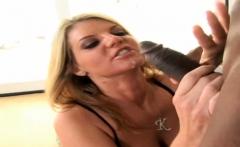 Busty Blonde MILF Kayla Quinn Fucks BBC