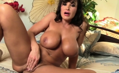 Busty Lisa Ann Toys Her Shaved Pussy