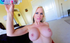 Hugetits MILF teasingly titfucking in POV