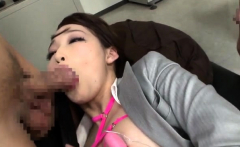 Hot Asian gives blowjob in group sex orgy