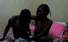 Real amateur African teen sucks boyfriend's cock on camera