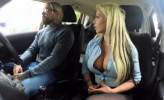Fake Driving School Busty blonde Barbie Sins