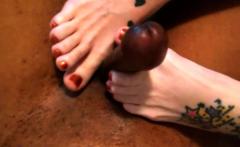 Interracial foot fetish action
